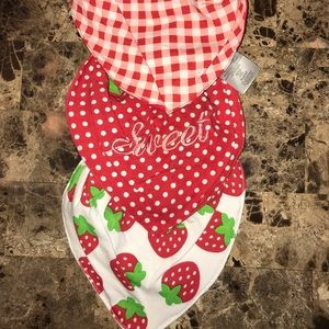 Other - Bundle strawberry bibs. Never used!